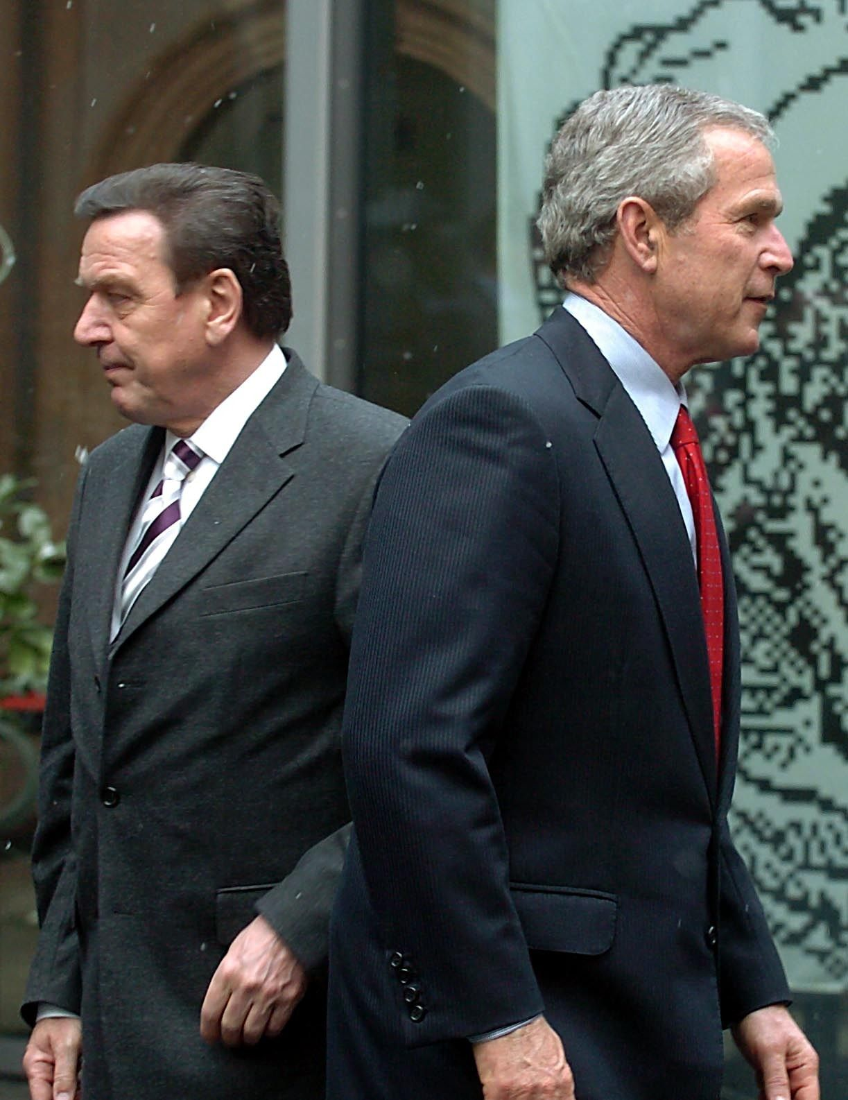 Bush und Schröder