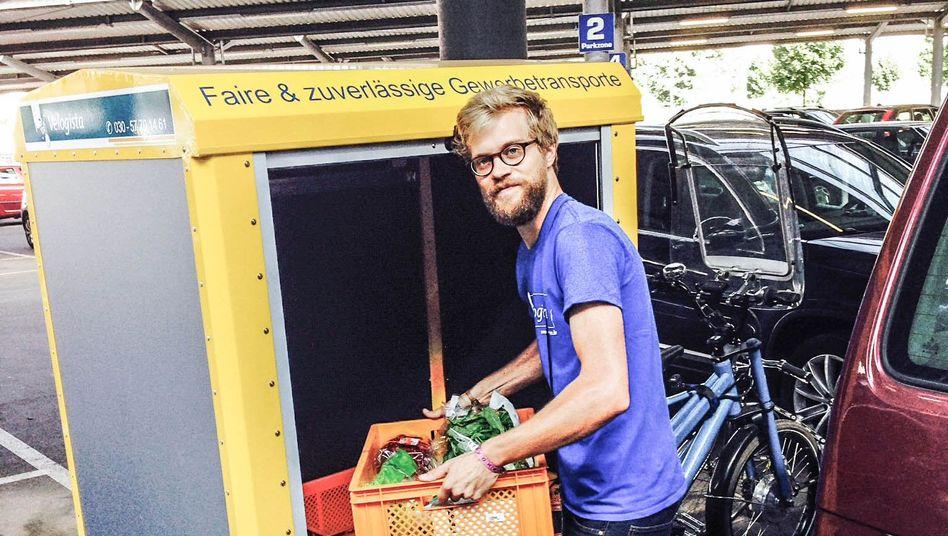 Lieferservice per Elektrorad: Roland Naumann ist Mitbegründer von Velogista