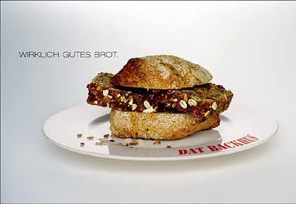 """Auch für Brot kann man gute Motive finden: Werbung für """"Dat Backhus"""", Sieger in der Kategorie Plakate und Poster (Springer & Jacoby)"""