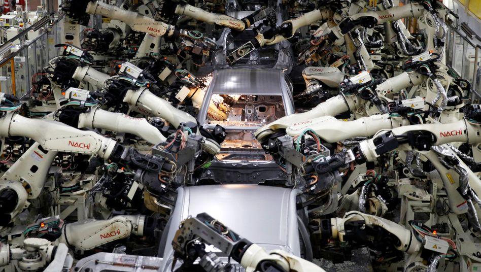 Roboter in Autowerk
