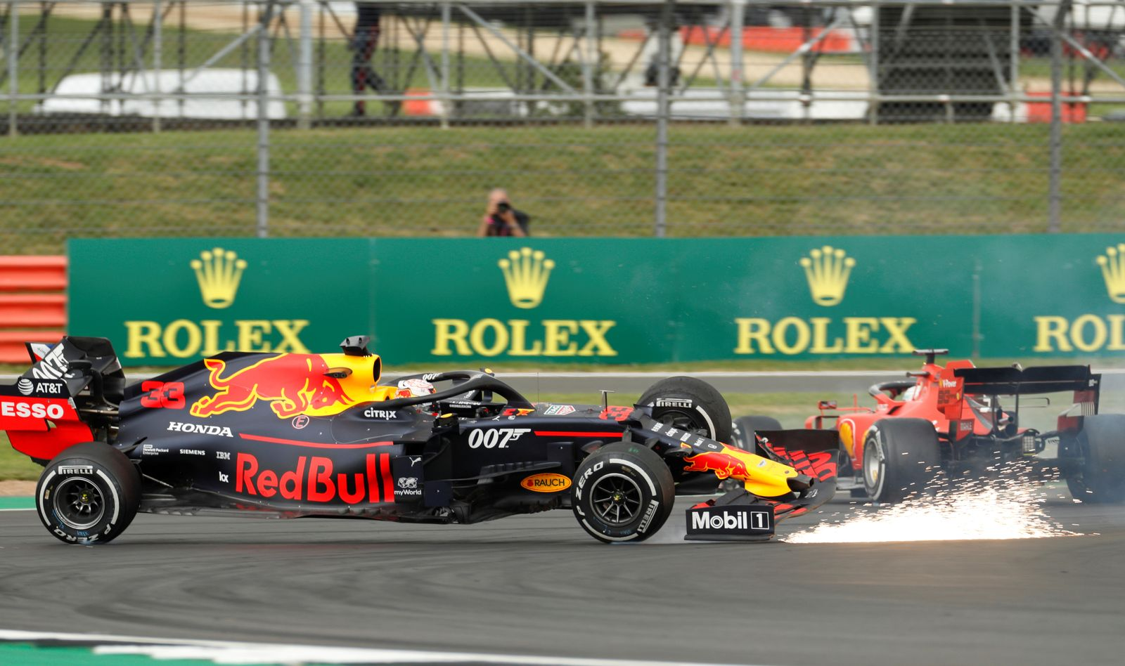 Vettel Verstappen Silverstone