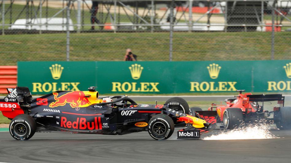 Max Verstappen (l.) und Sebastian Vettel