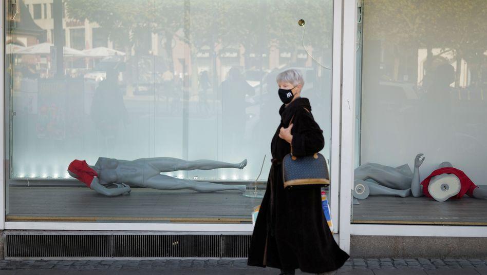Geschlossenes Textilgeschäft in Frankfurt:Ein gutes Szenario gibt es nicht mehr