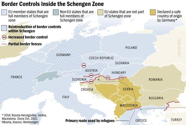 Graphic: Moving the Schengen border north.