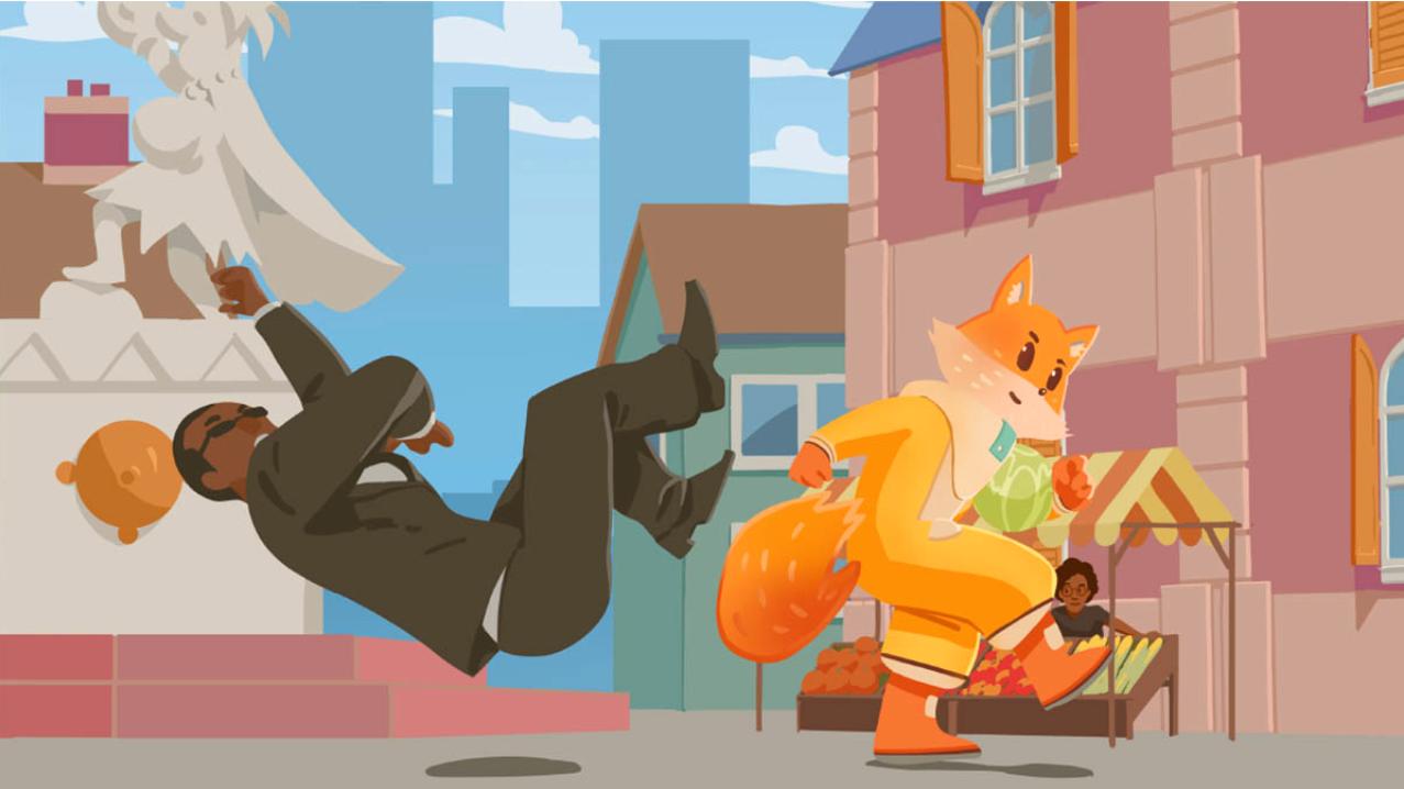 Fuchs im Netz