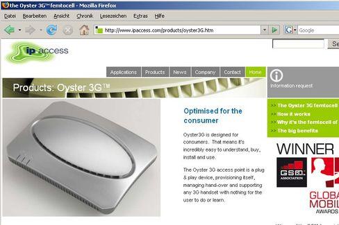 Webseite von ip.access: Eine UMTS-Basisstation für den Privathaushalt