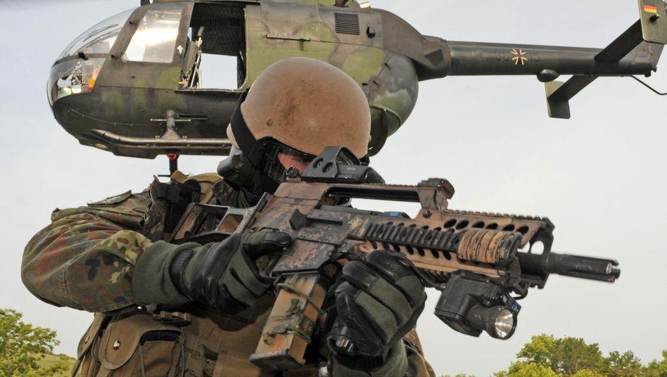KSK-Soldat bei einer Übung (Archivbild)