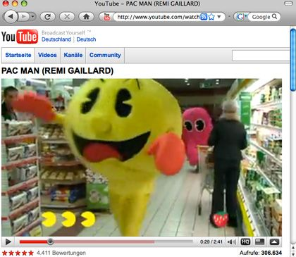 Rémi Gaillard: Der französische Komiker rast als Pac-Man durch einen Supermarkt