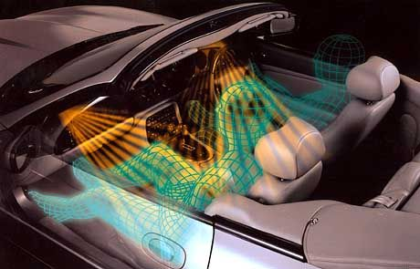 Im Jaguar XK8 tasten Infrarotsensoren die Sitzposition des Beifahrers genau ab