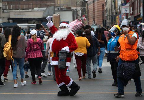 In Peru gesichtet: der Weihnachtsmann