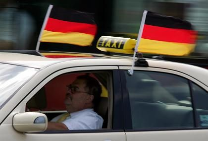 German car flags are not only cheap, they're also in very short supply.