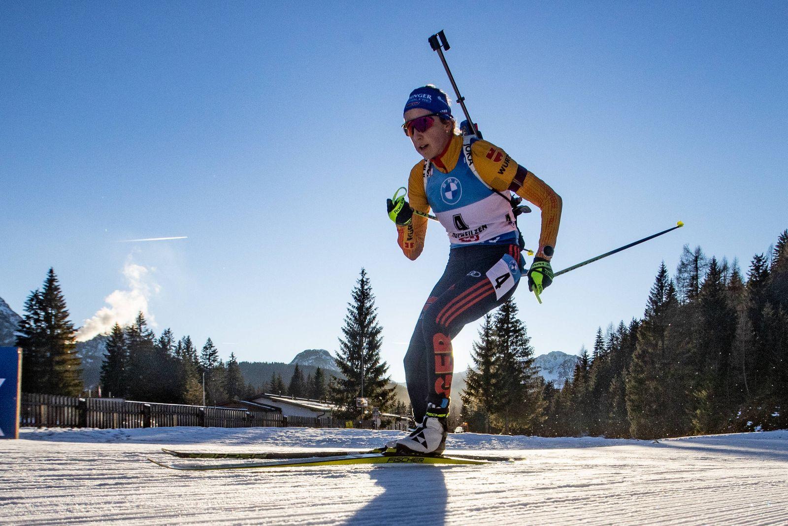 Franziska PREUSS (PREUß) (GER, SC Haag). Biathlon, Verfolgung der Frauen, Weltcup, Saison 2020-2021, am 19.12.2020 in Ho