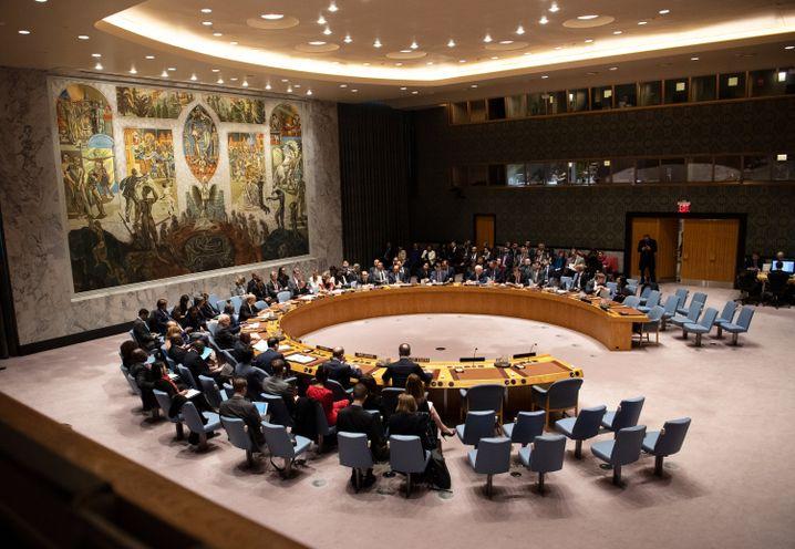 Sitzung des Uno-Sicherheitsrats in New York - unter deutschem Vorsitz