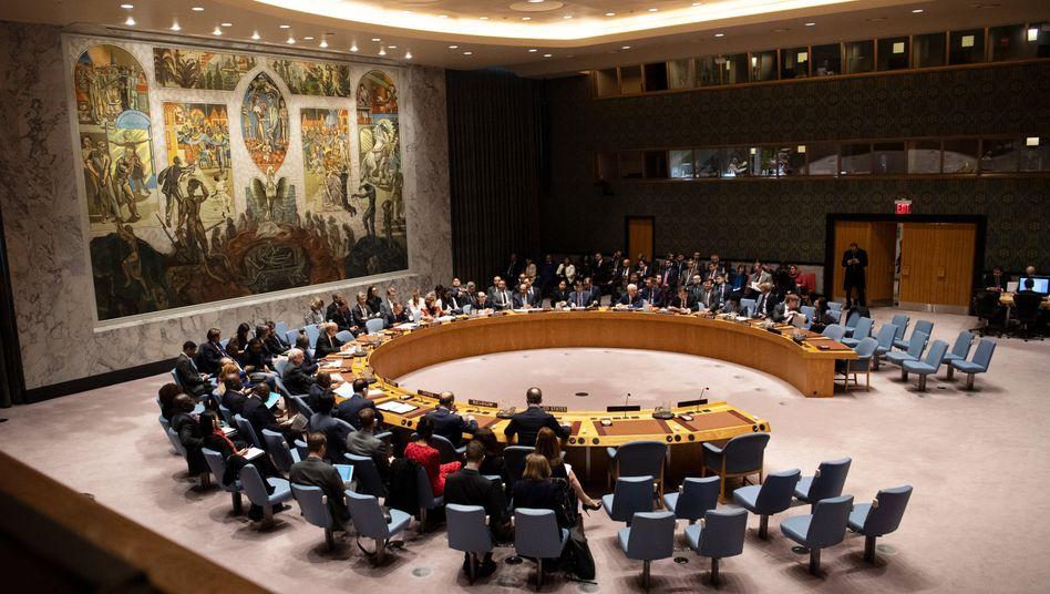 Sitzung des Sicherheitsrats im April 2019