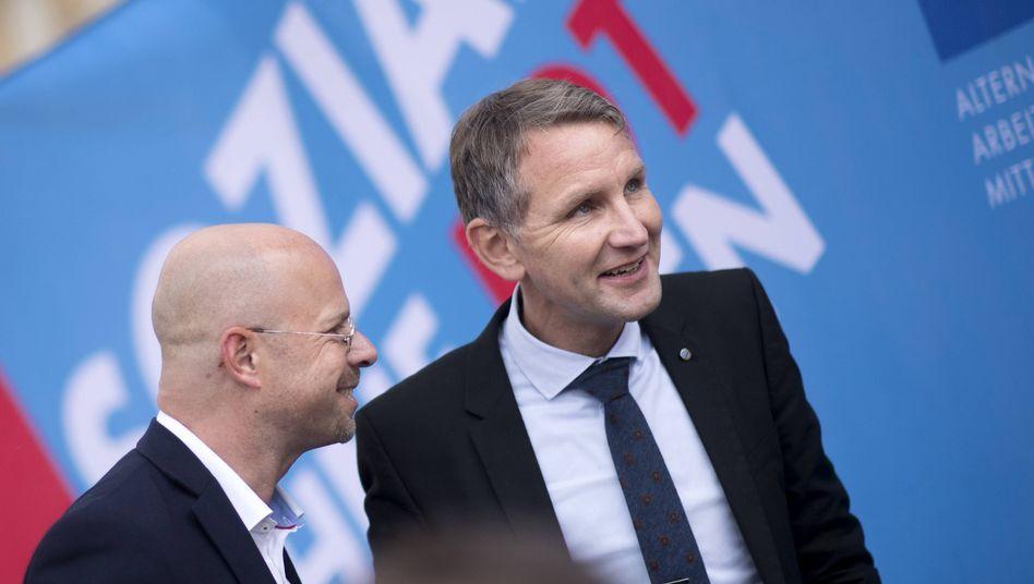 """""""Flügel""""-Vertreter Kalbitz (l.), Höcke: AfD unter Zugzwang"""
