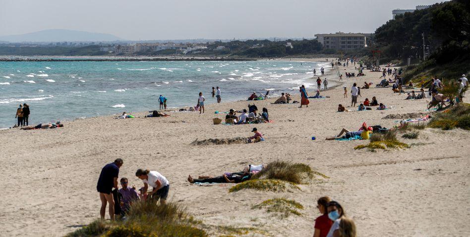 Strand in Spanien (im April 2021)