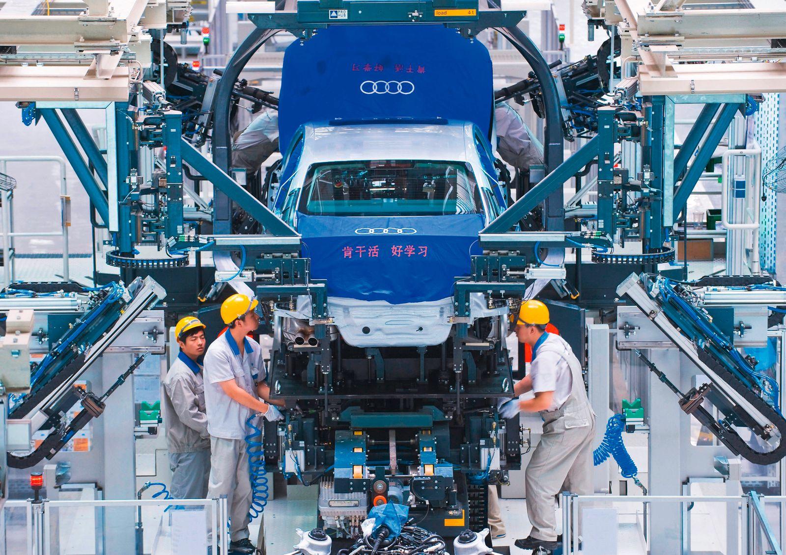 Audi bleibt in China auf Rekordfahrt