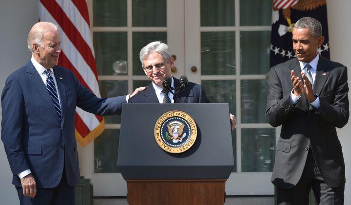 Merrick Garland bei seiner Nominierung durch Präsident Obama