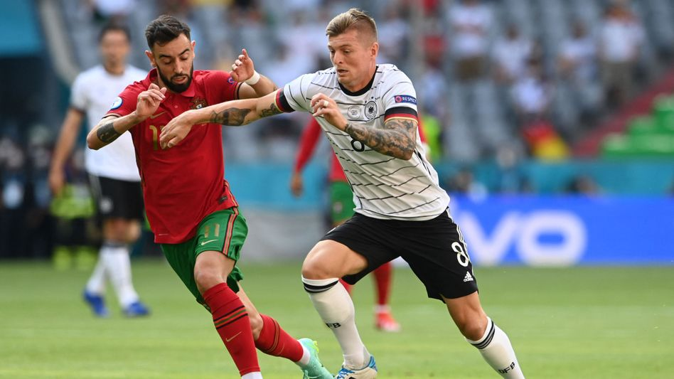 Toni Kroos im Spiel gegen Portugal: Bei der EM überrascht er mit seinen Balleroberungen