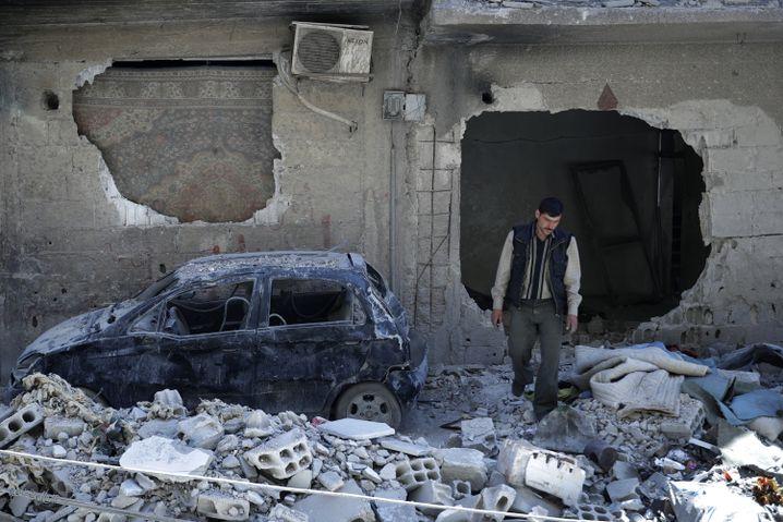 Trümmer im syrischen Duma