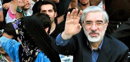 Mussawi (am 18. Juni in Teheran): Drohungen gegen ihn werden lauter