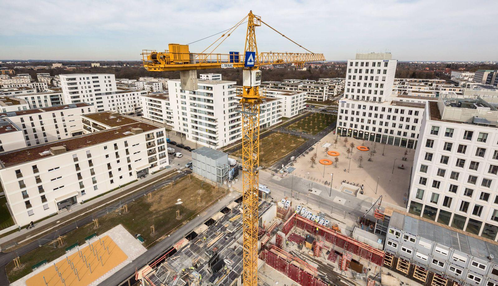 EINMALIGE VERWENDUNG Muenchen/ Wohnungsbau/ Hirschgarten