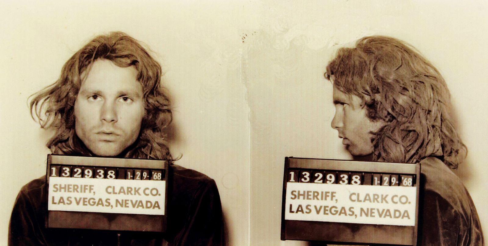 Jim Morrison Mugshot in Las Vegas