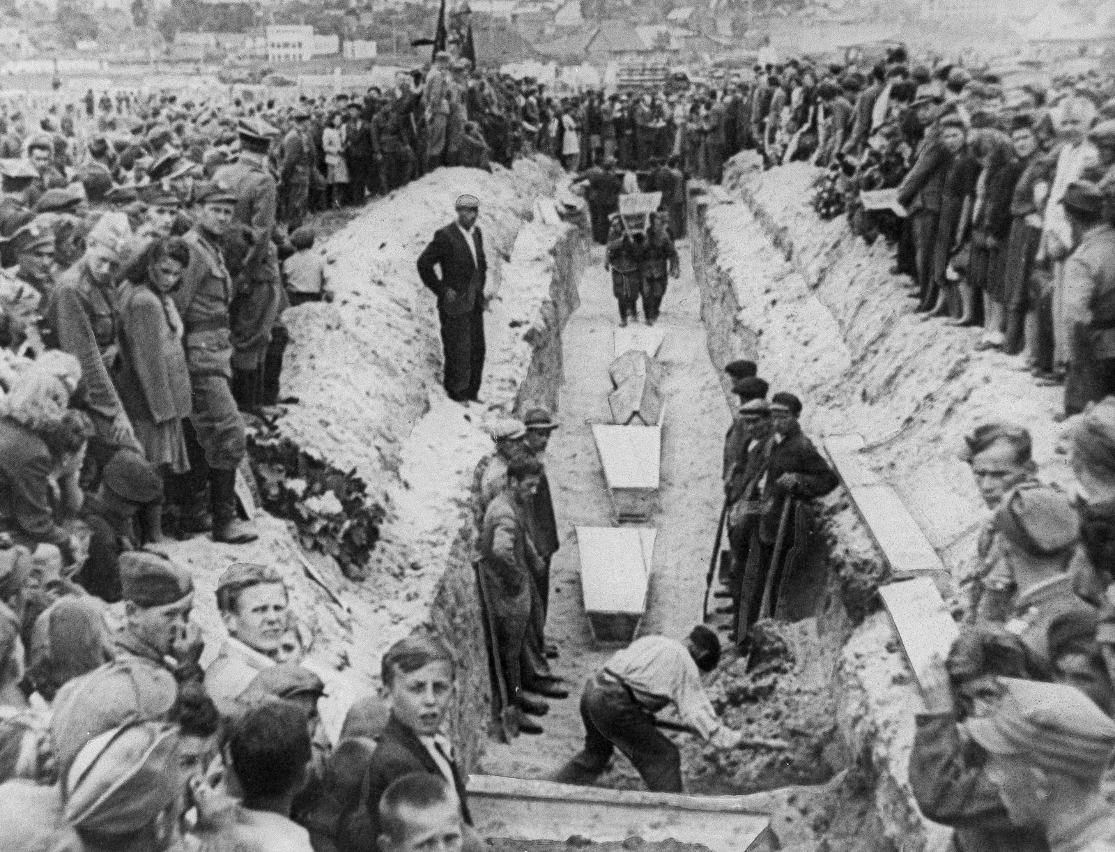 Mass Burial for Pogrom Victims