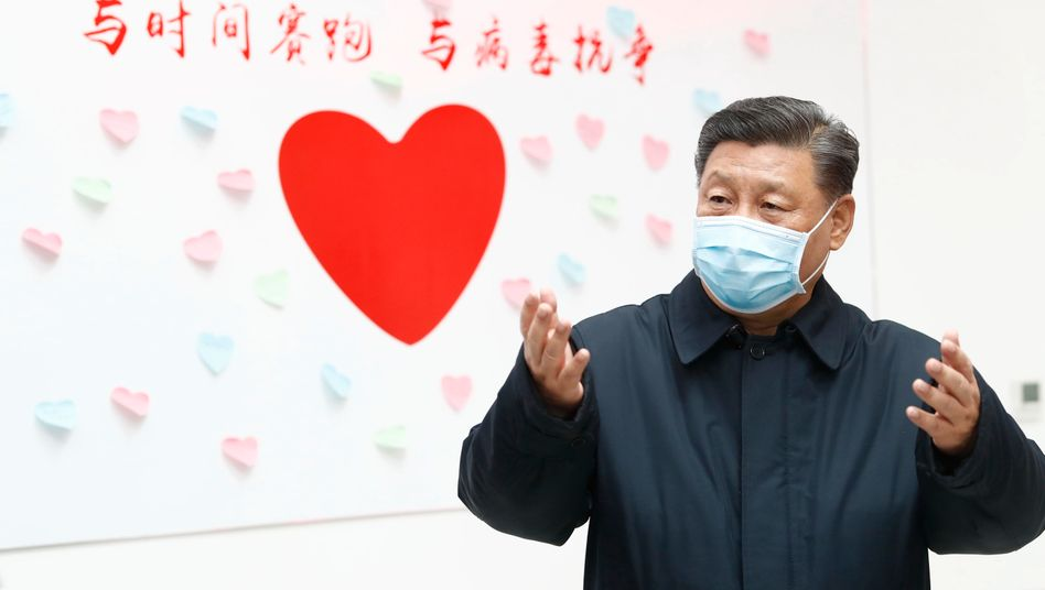 Chinas Präsident Xi Jinping am Valentinstag