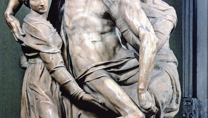 »Pietà Bandini«, Marmorstatue von Michelangelo in Florenz (1555)