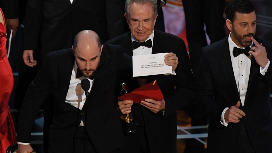 """""""La La Land"""" statt """"Moonlight"""": Panne bei den Oscars - falscher Film als Gewinner ausgerufen"""