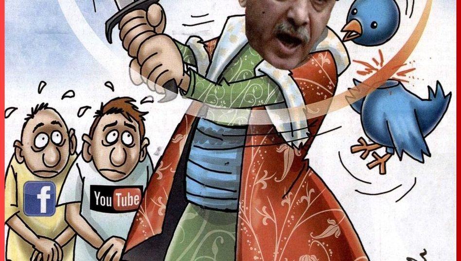 """Titelseite der türkischen Zeitung """"Sözcü"""": Protest gegen Twitter-Sperre"""