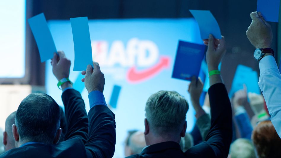 AfD-Mitglieder in Kalkar (beim Landesparteitag im Oktober 2019)