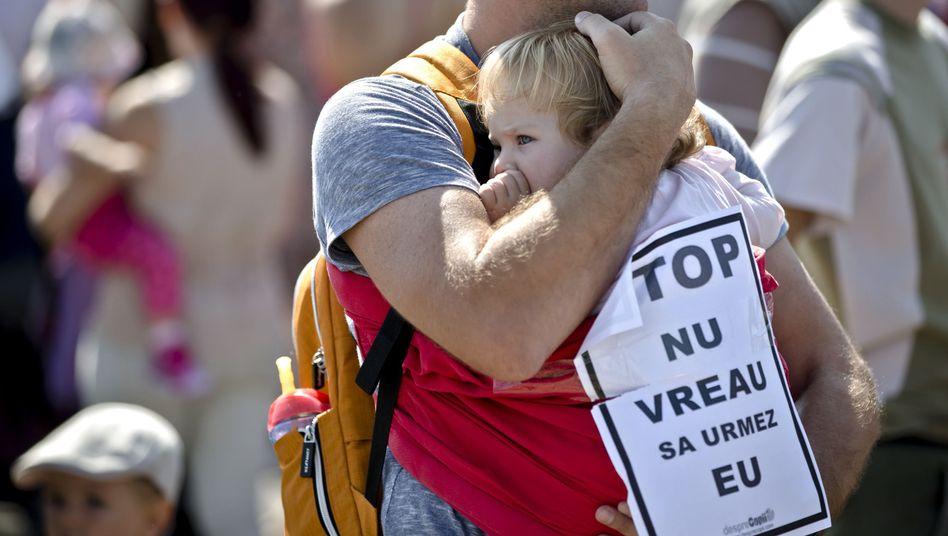 Proteste für die Tötung von Straßenhunden: Familienvater in Bukarest