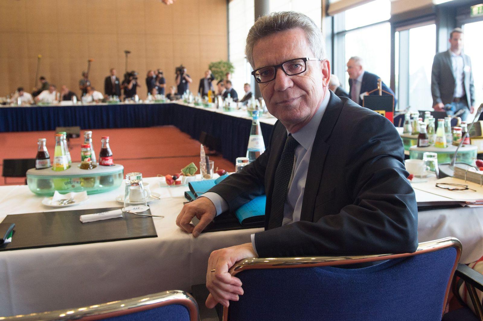 Frühjahrskonferenz der Innenminister/ Thomas de Maiziere