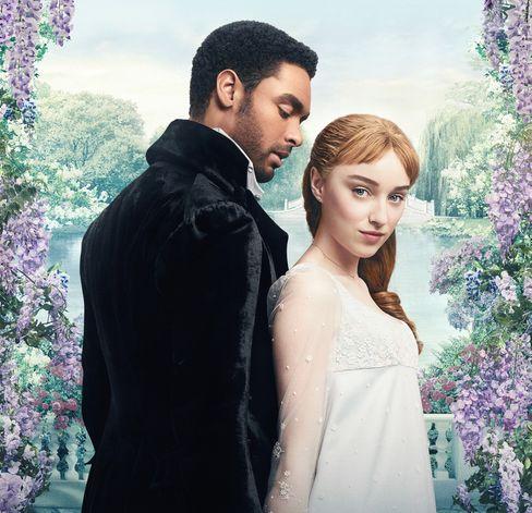 Werbeplakat der Netflix-Serie »Bridgerton«