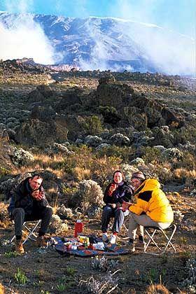 Picknick vor prächtigem Panorama
