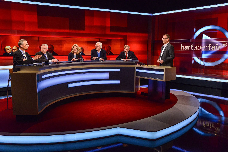 EINMALIGE VERWENDUNG TV/ Hart aber fair/ 16.04.18/ Donald Trump