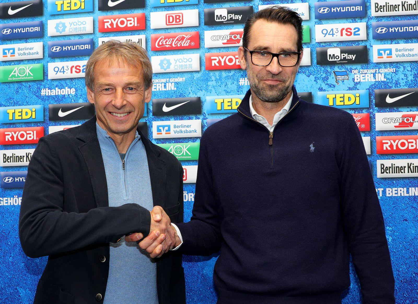 Juergen Klinsmann steps down as Hertha BSC coach, Berlin, Germany - 27 Nov 2019