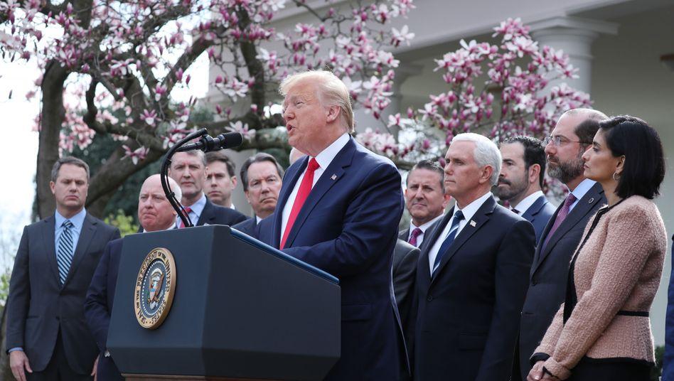Donald Trump bei Pressekonferenz