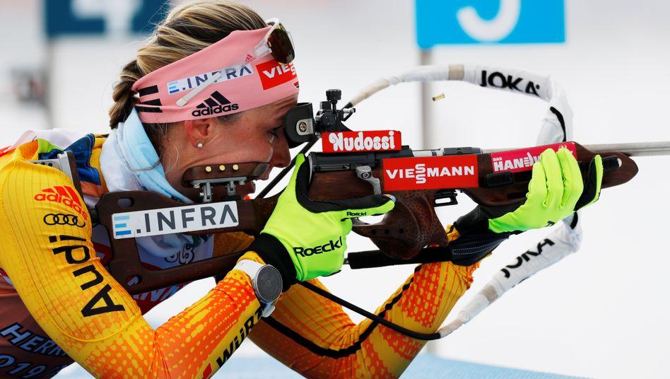 Denise Herrmann will in der Mixed-Staffel direkt mit einer Medaille starten