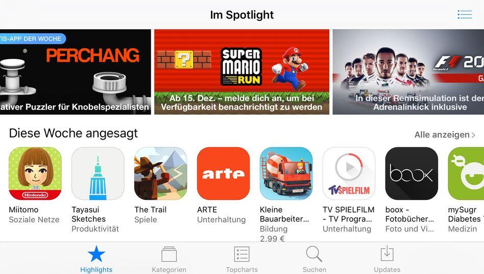 App Store von Apple (Screenshot)
