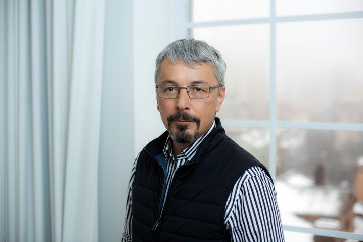 Sein Sender strahlte Selenskyjs Sendungen und politischen Auftritte aus: Oleksandr Tkatschenko, Hauptgeschäftsführer der Media Group 1+1, bald Abgeordneter der Partei