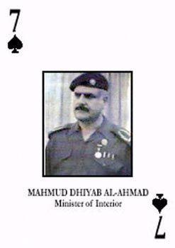"""Ex-Minister Mashhadani auf einem """"Fahndungskartenspiel"""" der Alliierten"""