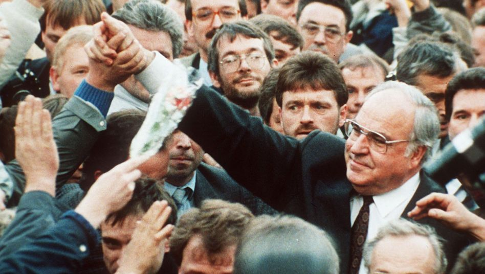 Helmut Kohl (1990 auf Wahlkampftour in Erfurt)