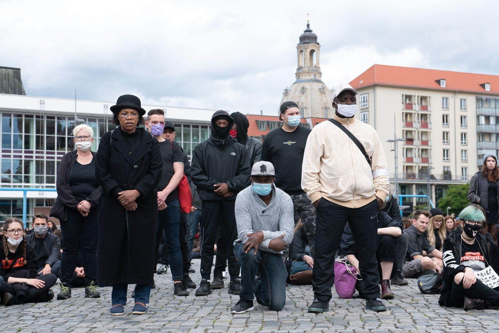 Demonstration gegen Rassismus · Dresden