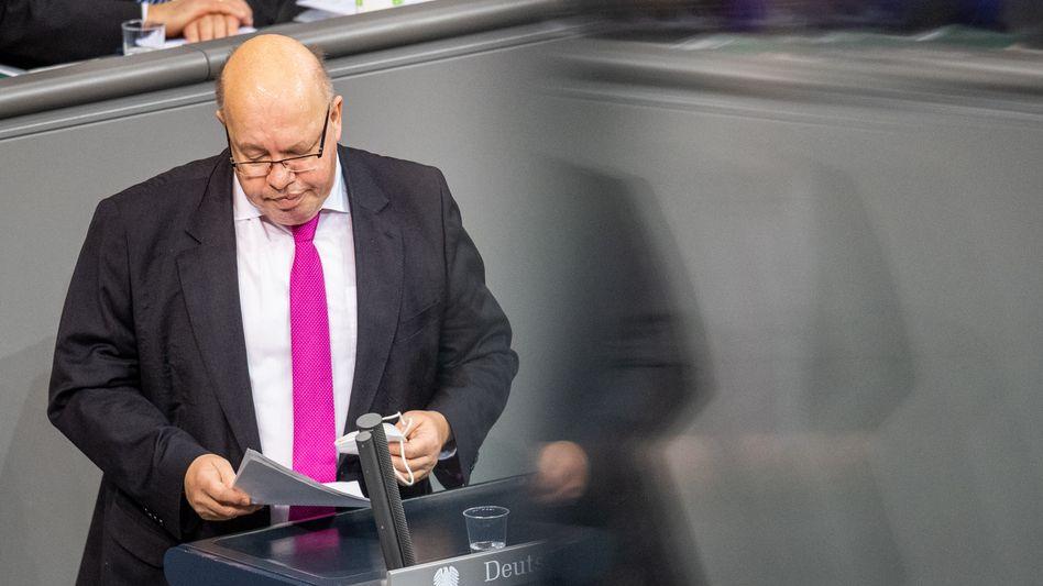 Wirtschaftsminister Peter Altmaier im Bundestag (Archivbild)