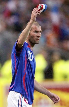Frankreich-Star Zidane: Letzes Spiel an der Stättedes Triumphs
