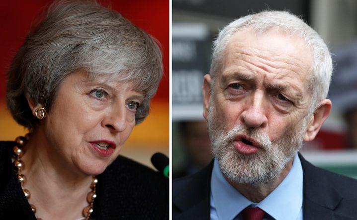 Theresa May und Jeremy Corbyn: Auf der Suche nach einem Kompromiss