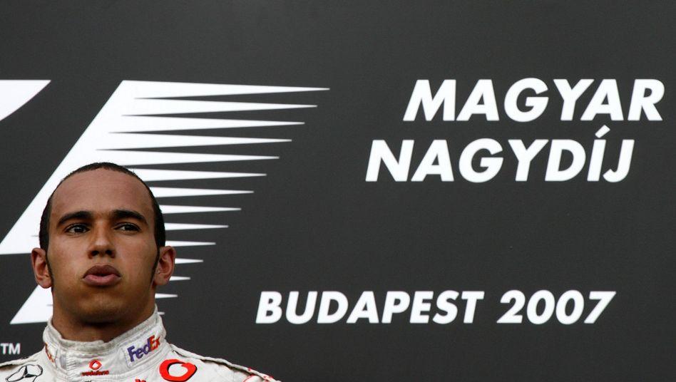 Formel-1-Pilot Hamilton (2007): Rekordsieger beim Ungarn-GP